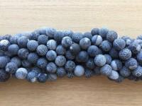 krakkeleret sort agat perler