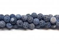 krakkeleret sort agat perler 10mm