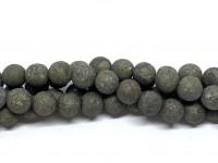 8mm matte pyrit perler
