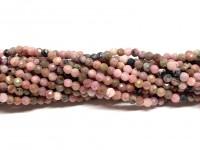 2mm facetslebne perler af rhodonit