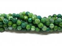 8mm grønne agat perler