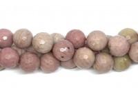 12mm facetslebet rhodonit perler