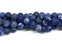 12mm matte sodalit perler