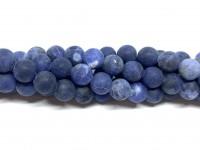 8mm matte sodalit perler