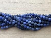4mm matte runde sodalit perler