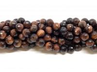 8mm facetslebet rød tigerøje perler