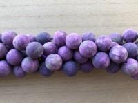 14mm matte lilla perler