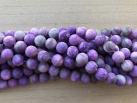 10mm matte lilla perler