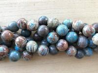 18mm runde perler brun og turkis