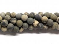 10mm matte grå og brune perler