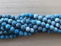 8mm matte turkis blå perler