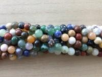 8mm blandede sten perler