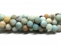 12mm matte amazonit perler