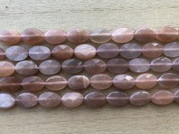 Solsten, facetslebet oval 8x12mm, hel streng-20