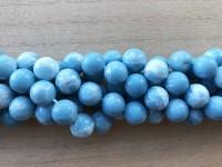 12mm runde perler af blue sky stone
