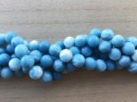 10mm runde perler af blue sky stone