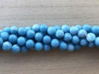 8mm runde perler af blue sky stone