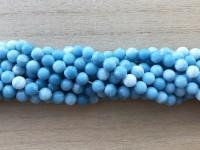 6mm runde blå perler af blue sky stone