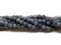 6mm matte runde snowflake perler