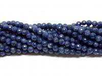 3mm blå safir perler