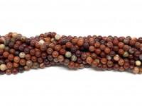 3mm perler af flower jaspis