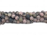 8mm matte rhodonit perler