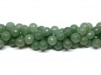 12mm facetslebet grøn aventurin