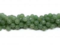 10mm facetslebet grøn aventurin