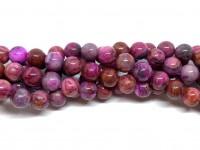 8mm runde perler af pink crazy agat