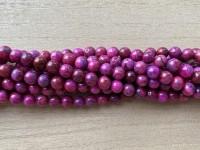 6mm pink crazy agat perler
