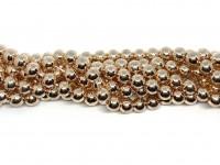 8mm rosaguld perler