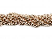 6mm rosaguld perler
