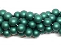 14mm matte grønne shell perler