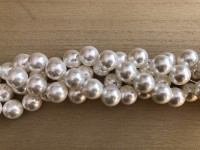 16mm blanke hvide perler