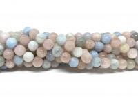 6mm morganit perler