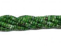 grøn impression jaspis skive perler