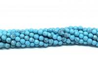 3mm facetslebet blå magnesit