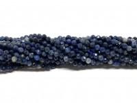 2mm facetslebne blå perler