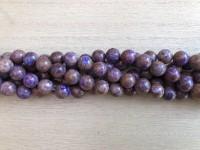 10mm lilla efterårs jaspis perler