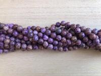 8mm lilla efterårs jaspis perler