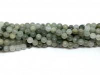 6mm grønne kvarts perler