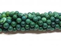 8mm mørke grønne agat perler