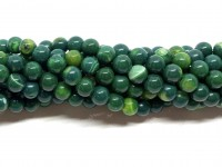 6mm mørke grønne agat perler