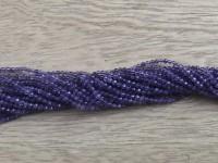 2mm facet ametyst perler
