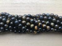 8mm blå tigerøje perler