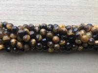 6mm facetslebet tigerøje perler