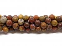 10mm runde perler af warring states agat