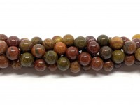8mm runde perler af warring states agat