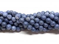 8mm blå koral perler