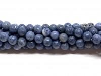 6mm blå koral perler